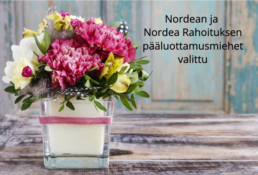 Nordean ja Nordea Rahoituksen pääluottamusmiehet valittu
